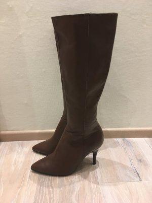 Heine Chillany Stiefel Boots braun Leder Gr. 39
