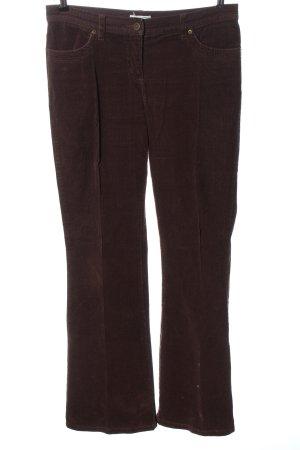 Heine Pantalon en velours côtelé brun motif rayé style décontracté