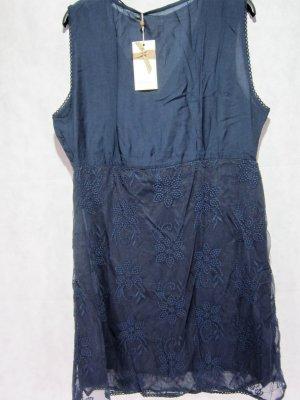 Cream Sukienka z krótkim rękawem stalowy niebieski Wiskoza