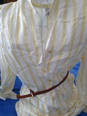Heine Robe en jersey blanc-jaune primevère