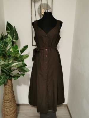 Heine Damen Freizeitkleid Landhauskleid braun Sommer Kleid Größe 40