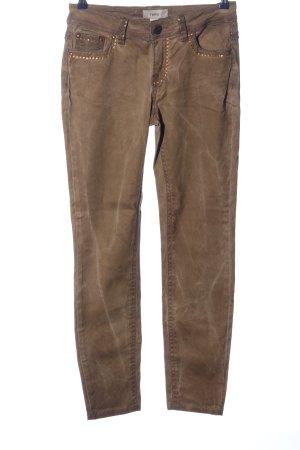 Heine Pantalón de cinco bolsillos color bronce look casual