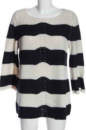 Heine Jersey de ganchillo blanco-negro estampado a rayas look casual