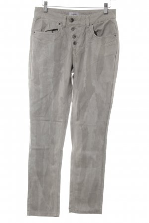 Heine Hoge taille jeans lichtgrijs-grijs casual uitstraling