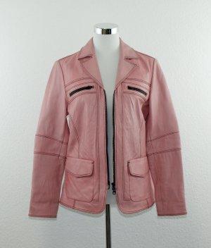 heine Jacke pink rosa Gr. 38 echtes Leder