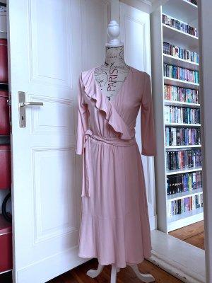 Heine Vestido cruzado rosa