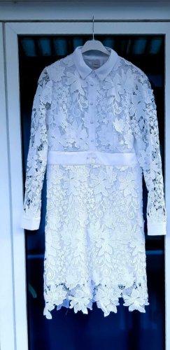 Heine Kleid 38 M neu Stickerei Spitzenkleid weiß Spitze
