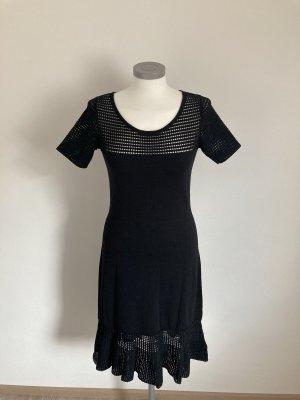 Heine Kleid schwarz Volant 36 S 38 M