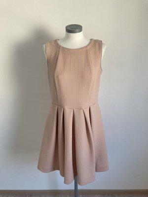 Heine Kleid Waffeloptik rosa rose nude 38 M