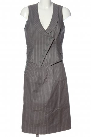 Heine Tailleur gris clair-blanc motif rayé style décontracté