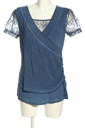 Heine Kurzarm-Bluse blau Casual-Look