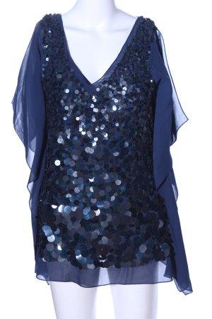 Heine Kurzarm-Bluse blau Elegant