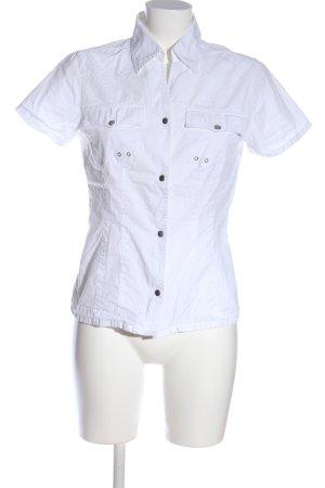 Heine Chemise à manches courtes blanc style mode des rues