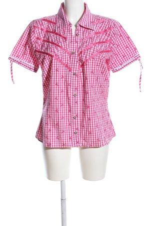 Heine Kurzarmhemd pink-weiß Allover-Druck Casual-Look