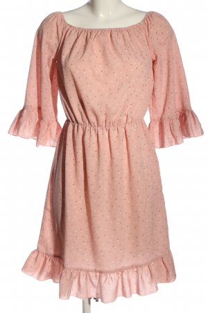 Heine Kurzarmkleid pink Allover-Druck Casual-Look