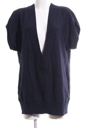 Heine Maglione a maniche corte blu stile casual