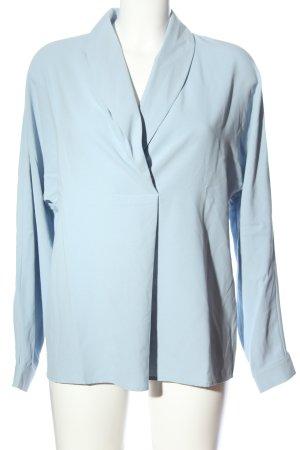 Heine Langarm-Bluse blau Business-Look