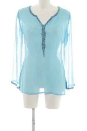 Heine Langarm-Bluse blau Elegant