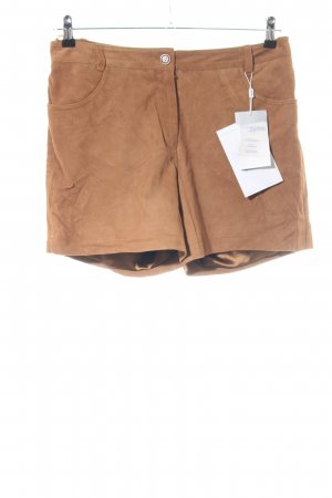 Heine Leren broek bruin casual uitstraling
