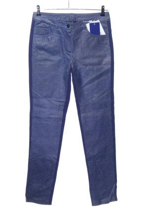Heine Lederhose blau Casual-Look