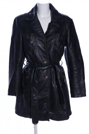 Heine Lederjacke schwarz Business-Look