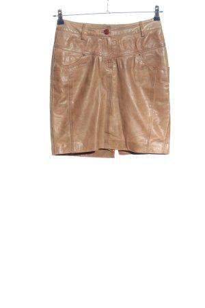 Heine Skórzana spódnica brązowy W stylu casual