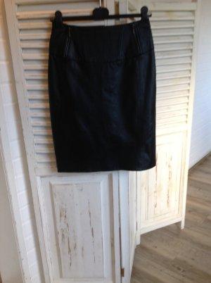 Heine Leather Skirt black leather