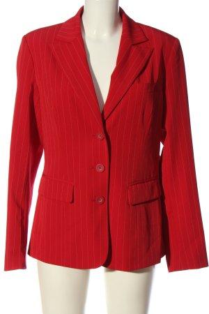 Heine Long-Blazer rot Streifenmuster Business-Look