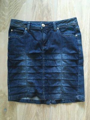 Heine Mandarin Rock Denim Jeans Jeansrock 36 S