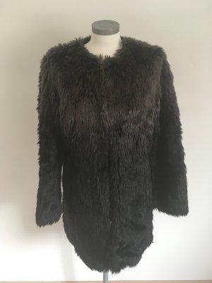 Heine Cappotto in eco pelliccia nero-marrone
