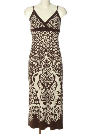 Heine Maxi abito bianco sporco-marrone motivo astratto elegante