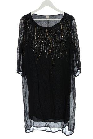 Heine Chiffonkleid schwarz Elegant