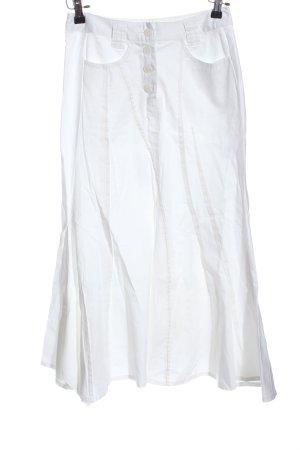 Heine Gonna midi bianco stile casual
