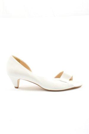Heine Peep Toe Pumps white business style