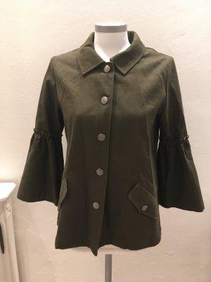 Heine Rick Cardona Jacke Weste grün oliv khaki 34 XS