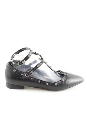 Heine Ballerina's met bandjes zwart casual uitstraling