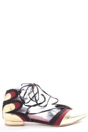 Heine Bailarinas con punta multicolor look casual