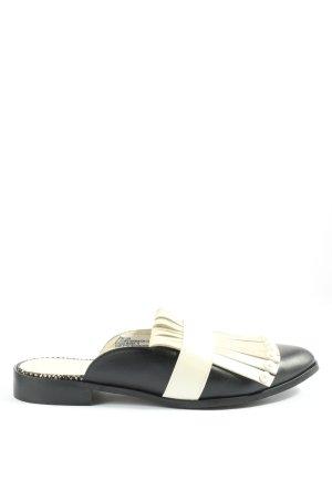 Heine Sabot w kolorze białej wełny-czarny W stylu casual