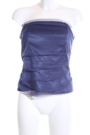 Heine Off the shoulder top blauw elegant