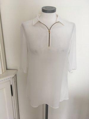 Heine Shirt Top Bluse weiß 36 S