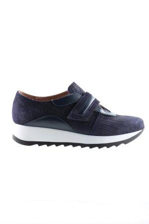 Heine Sneaker Klettverschluss blau Allover-Druck Casual-Look