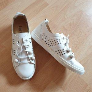 HEINE Sneaker weiß mit Lochmuster - Echtes Leder - Gr. 38 NEU