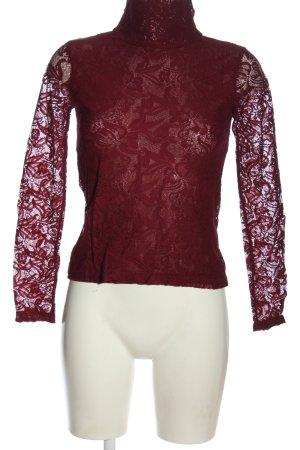 Heine Blusa in merletto rosso stile casual
