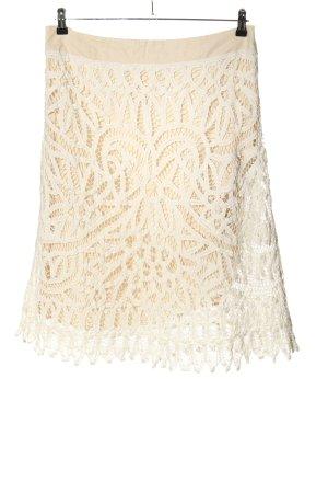 Heine Falda de encaje crema-blanco look casual