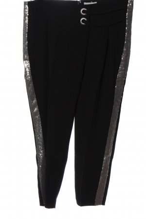 Heine Pantalone jersey nero-argento stile casual