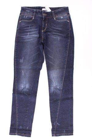 Heine Jeans a gamba dritta blu-blu neon-blu scuro-azzurro Cotone