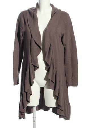 Heine Manteau en tricot brun style décontracté