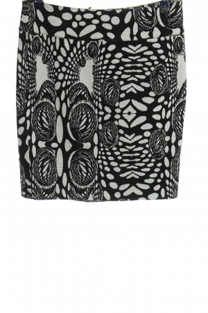 Heine Knitted Skirt black-white allover print classic style