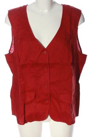 Heine Chaleco de vestir rojo look casual