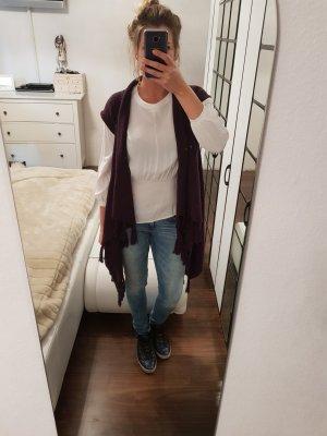 Heine Gilet long tricoté violet-violet foncé